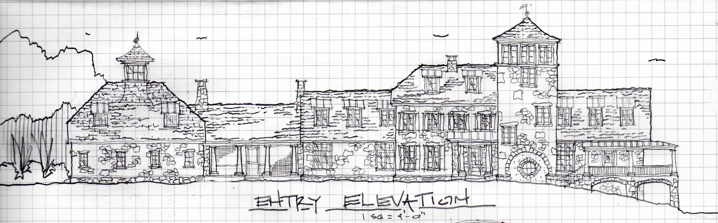 Initial Schematic Elevation for current project