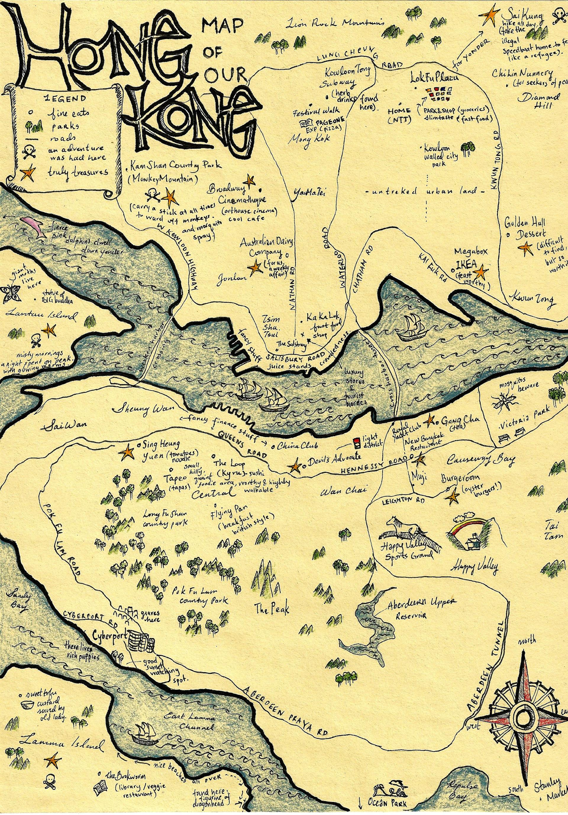 hong kong mapped by kening, 2013