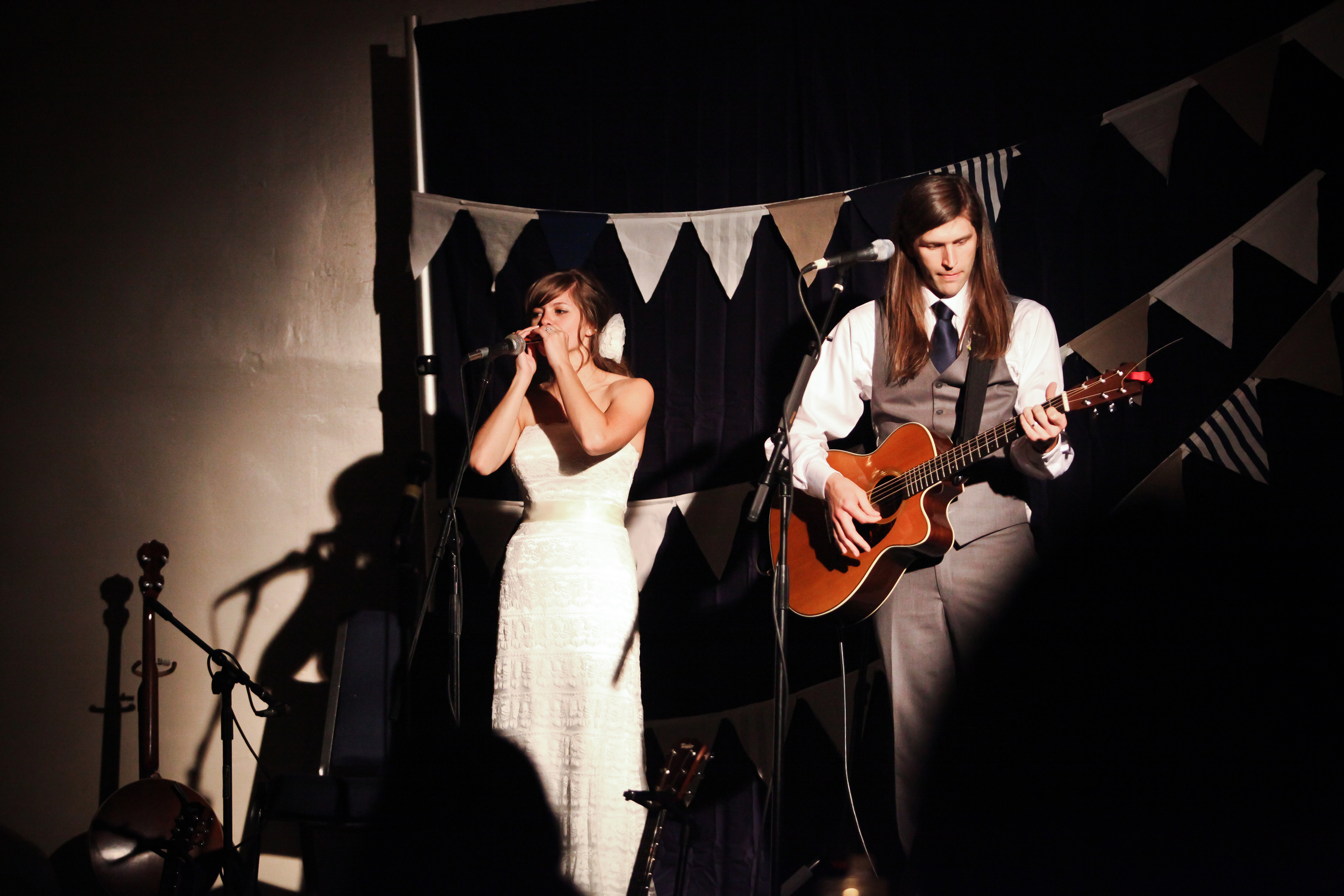 We even performed at our own wedding!