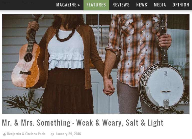 CCM Magazine Featured Article Mr & Mrs Something