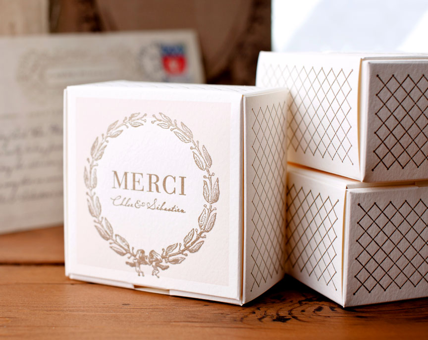 Postcards from Paris Favour Box