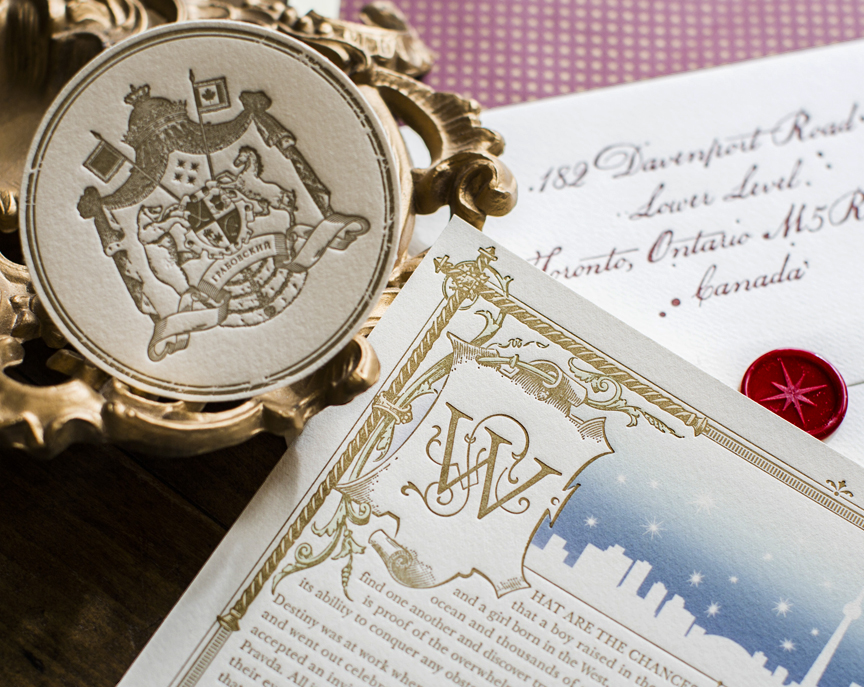 Russian Fairytale Wedding Invitation