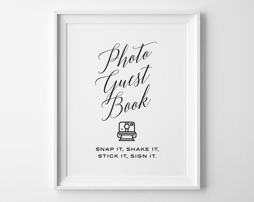 Modern Photo Guest Book Sign