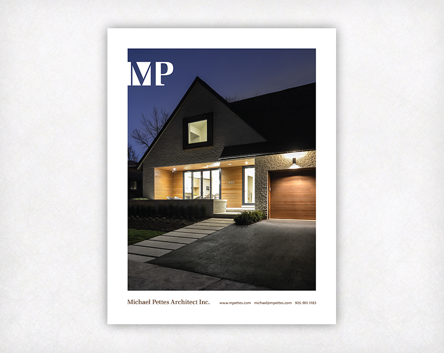Michael Pettes Architect Logo and Ad Design