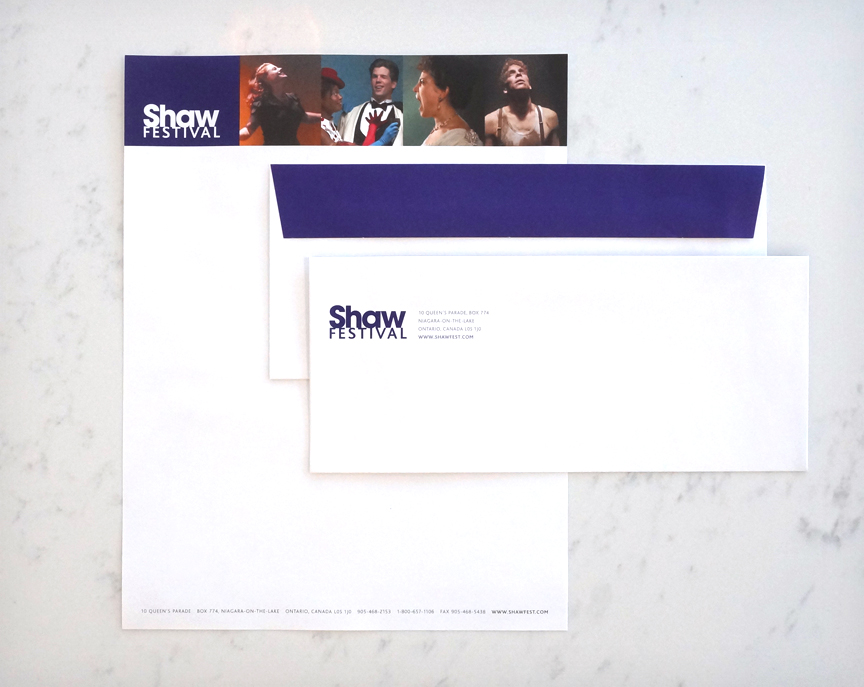 Shaw Festival Letterhead and Envelope