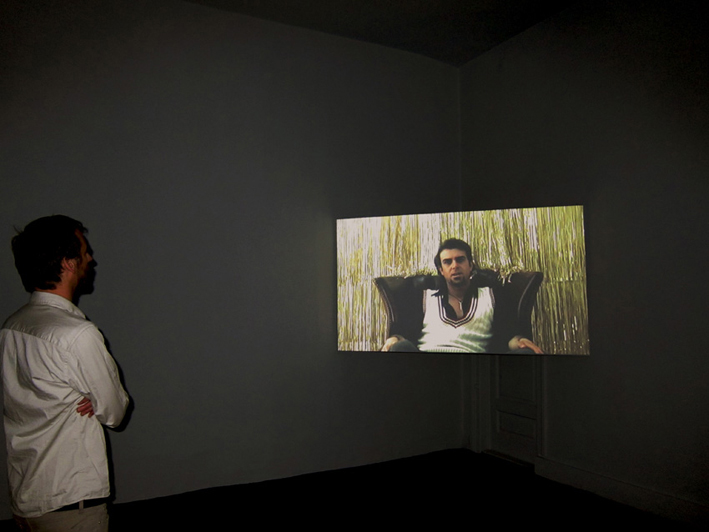 This Show Is My Business, 2008, HD video, 15 min. 50 sec, color, sound, loop. Installation view, CiC, Cairo, Egypt.