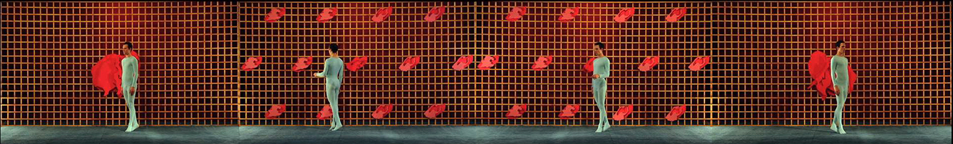 """Sequence Two-In One Movement (From Metamorphoses: The Sequences, 2010-2013), 2010,four-split screen one channel video projection, 6 min. 59 sec.                                 Normal    0                false    false    false       EN-US    JA    X-NONE                                                                                                                                                                                                                                                                                                                                                                                                                                                                                                                                                  /* Style Definitions */ table.MsoNormalTable {mso-style-name:""""Table Normal""""; mso-tstyle-rowband-size:0; mso-tstyle-colband-size:0; mso-style-noshow:yes; mso-style-priority:99; mso-style-parent:""""""""; mso-padding-alt:0in 5.4pt 0in 5.4pt; mso-para-margin:0in; mso-para-margin-bottom:.0001pt; mso-pagination:widow-orphan; font-size:12.0pt; font-family:Cambria; mso-ascii-font-family:Cambria; mso-ascii-theme-font:minor-latin; mso-hansi-font-family:Cambria; mso-hansi-theme-font:minor-latin; mso-ansi-language:EN-US;}"""
