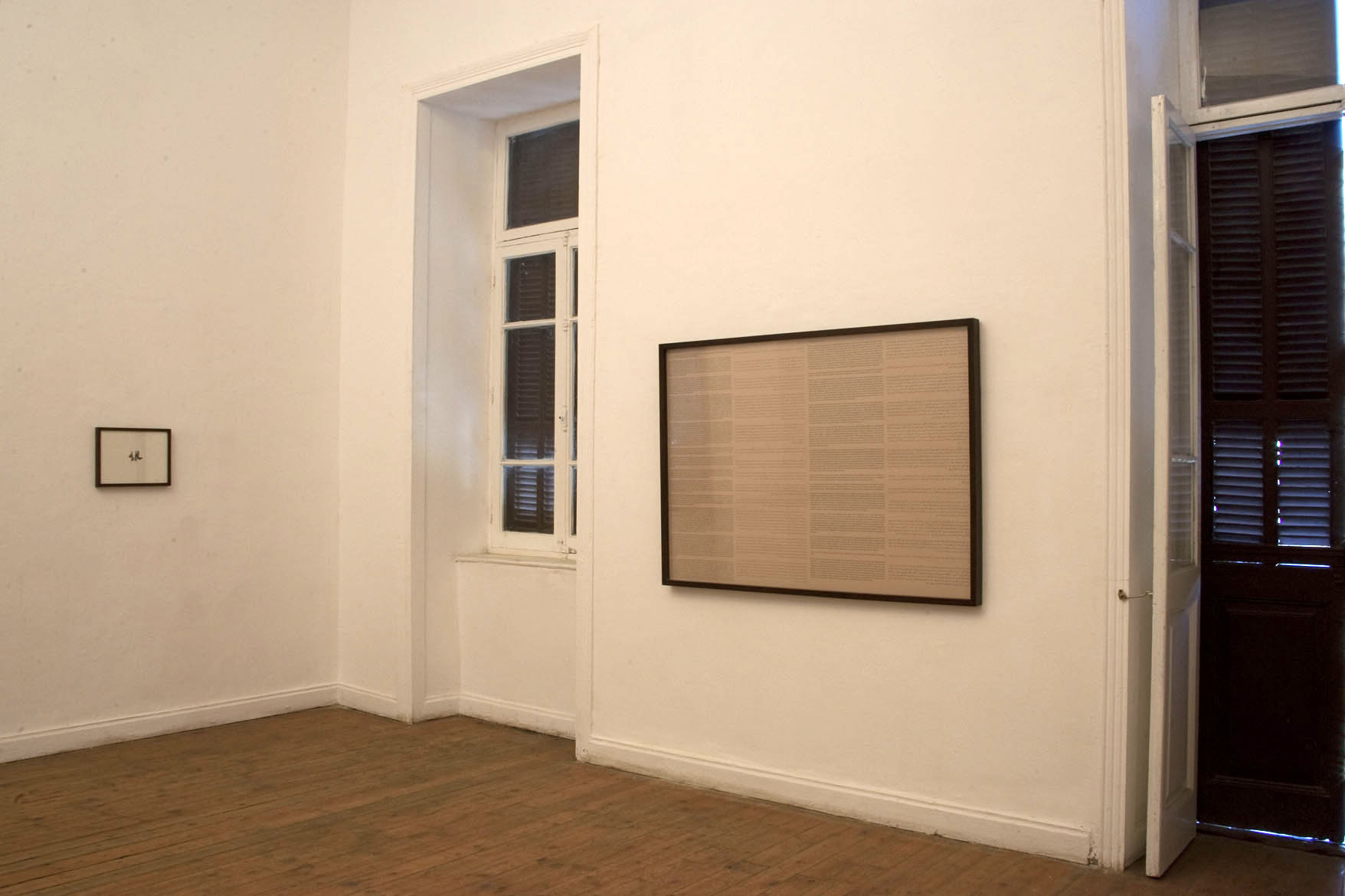 Installation shot from the exhibition Desire, Deceit, and Difficult Deliveries, Townhouse Gallery, Cairo, 2013