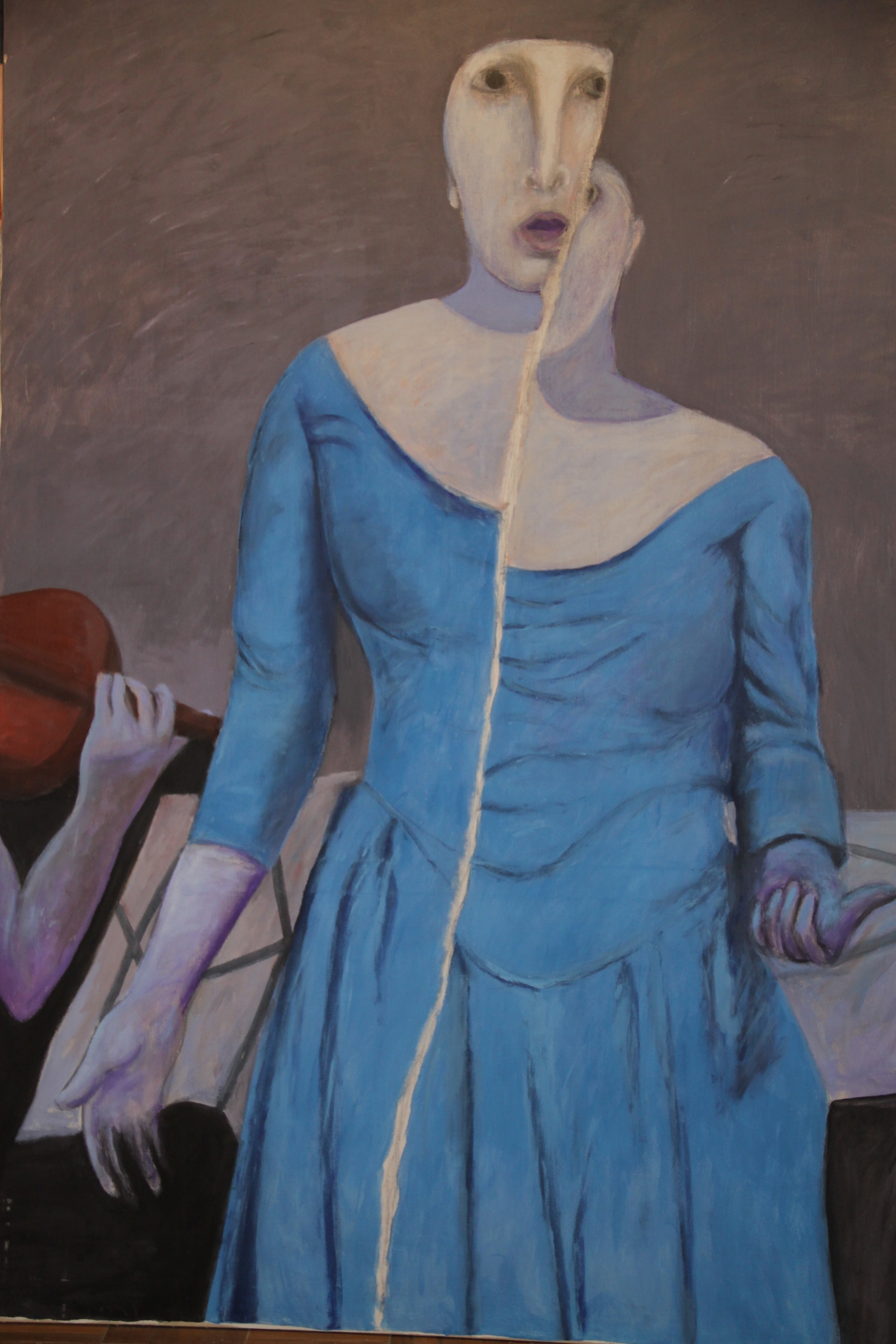 Ahmed Morsi, Soprano,1997,Acrylic on canvas,221 x 153 cm.