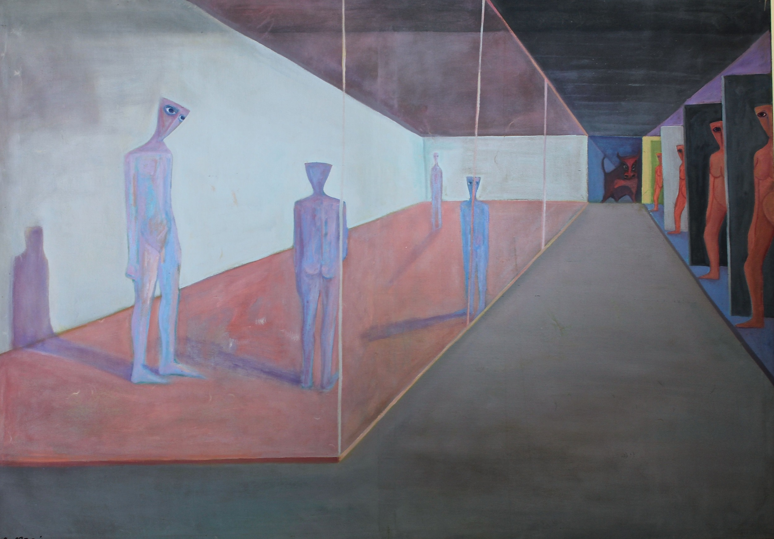 Ahmed Morsi, Waiting, 1975, Oil on canvas, 178 x 125 cm.