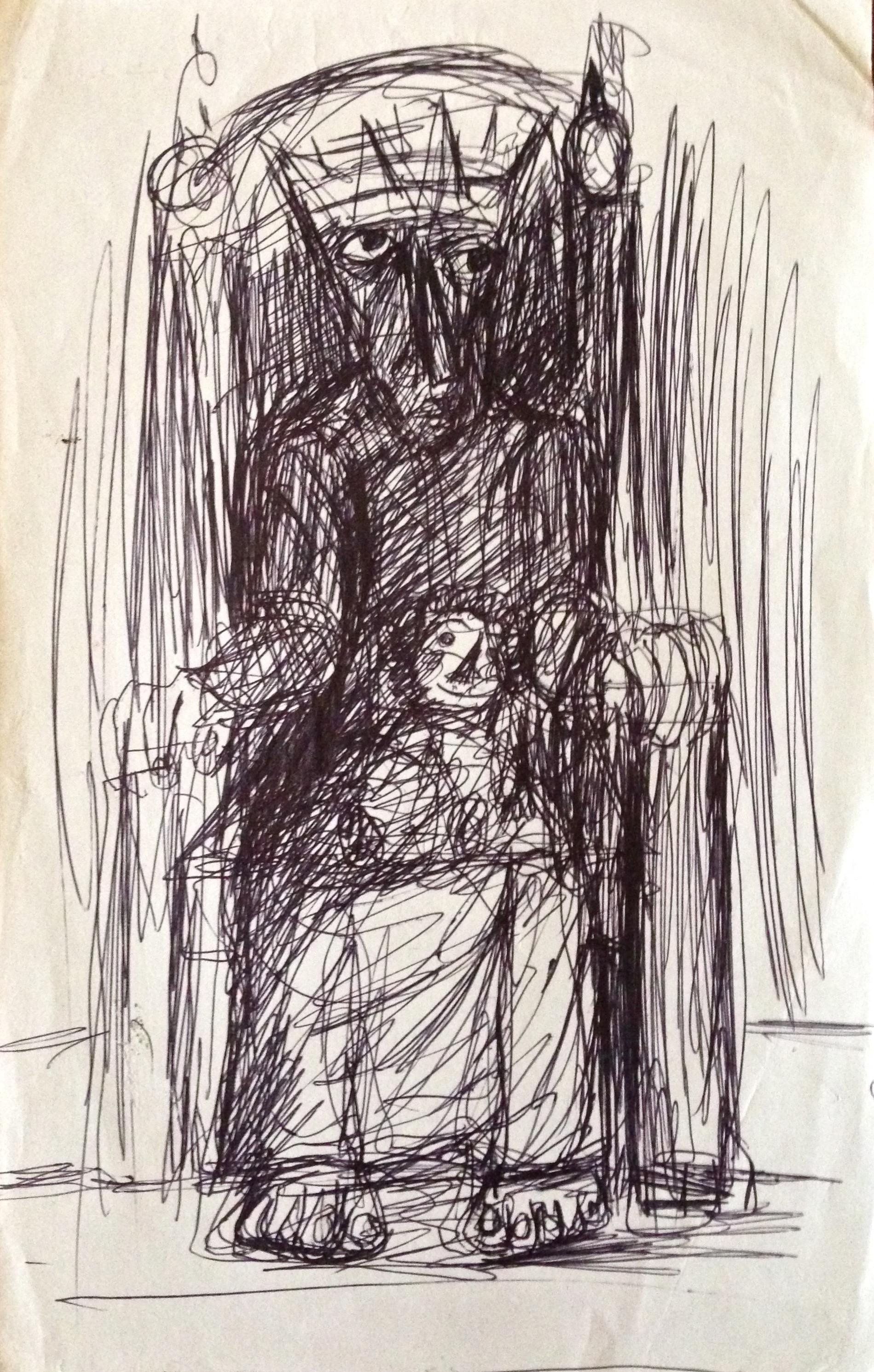 Ahmed Morsi, Untitled, Pen on paper.