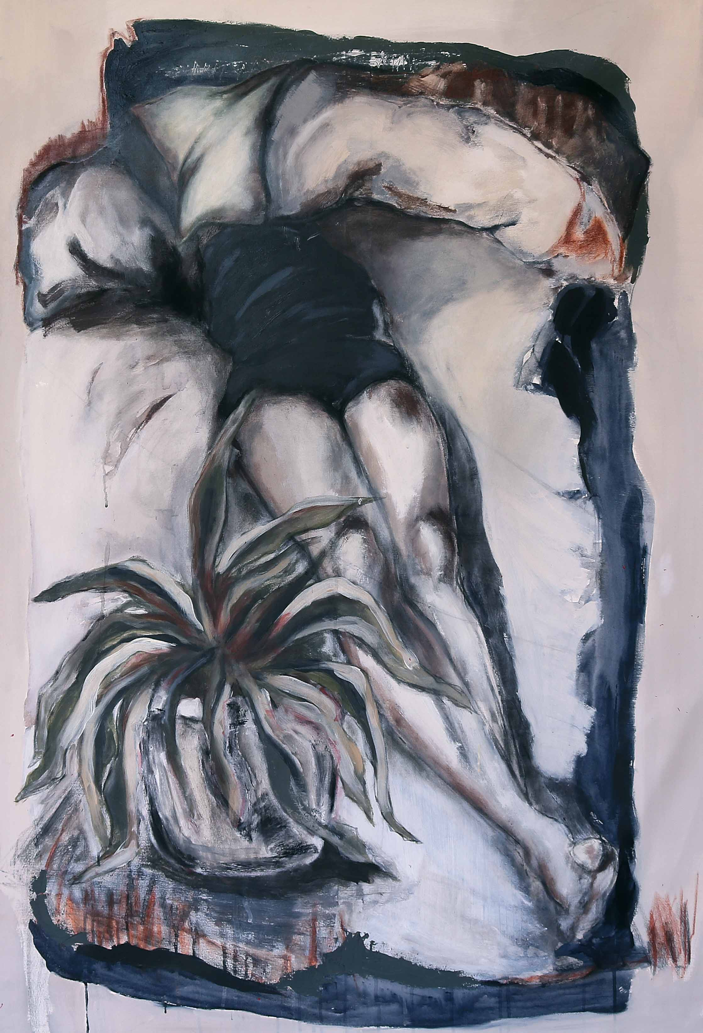 Sleeping Girl, 2016, Acrylic paint on canvas, 150 x 100 cm.