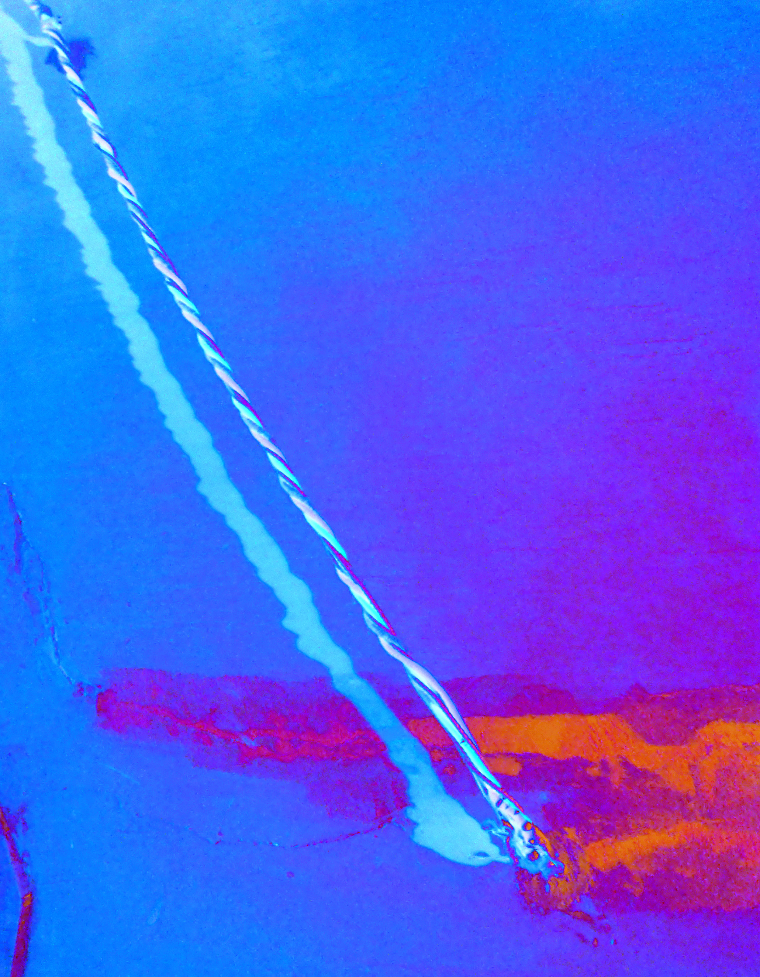 Abstract Blue , 2015, pigmented ink print, framed, 60 x 46,6 cm, Edition 3+1 AP.