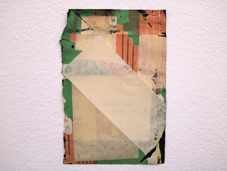 Untitled, 2016, Inkjet on book page,16 cm x 12 cm