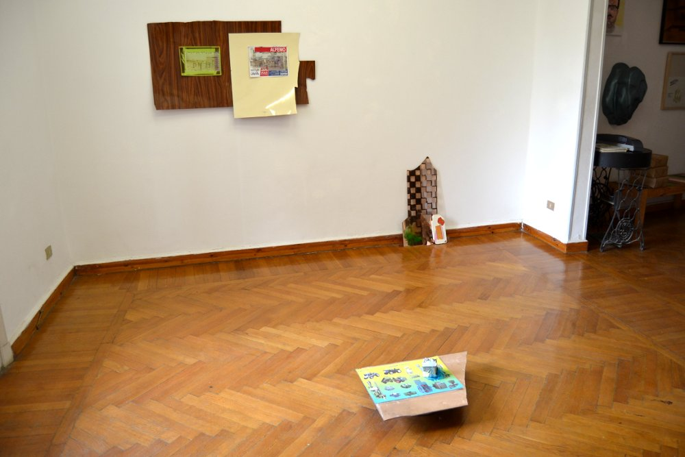 Installation view of I'm Not Obliged To Do This at Nile Sunset Annex, 2016, Variable materials.