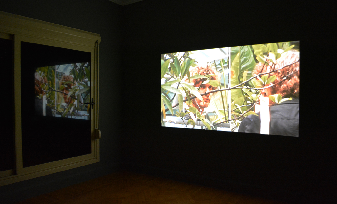 Installation shot. Time Laughs Back at You Like a Sunken Ship, 2012, Super 8 film transferred to HD video. 9 min. 31 sec.  WATCH HERE