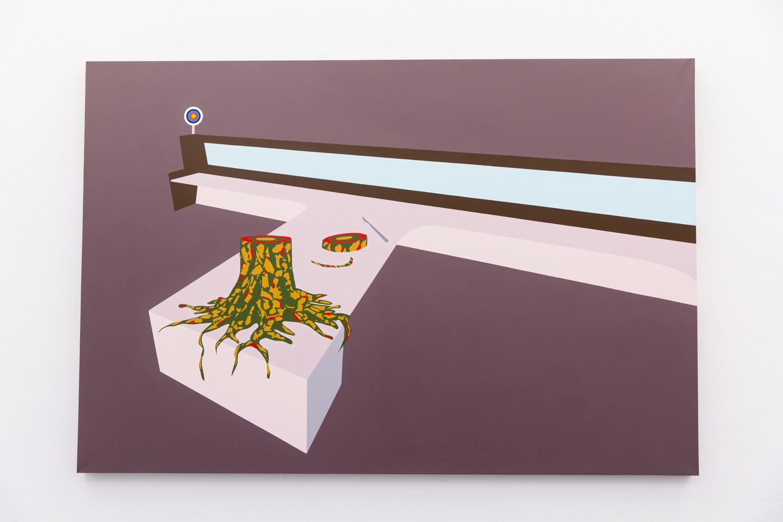 Bark #1, 2018, Acrylic on canvas, 108 x 160 cm