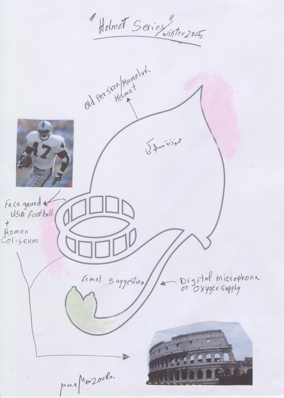 Helmet III Sketch, 2005