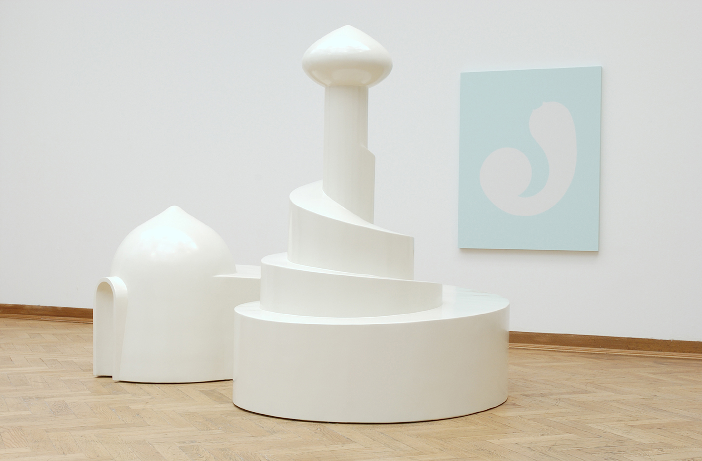 Untitled (Industrial Harem), 2003. Installation view, Transferts, Palais des Beaux-Arts, Brussels, Belgium