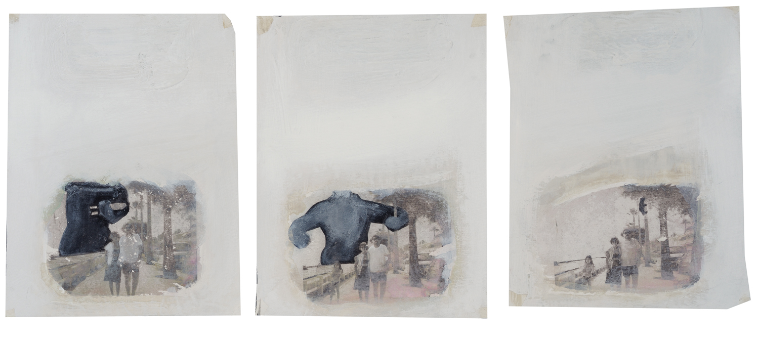 King Kong 1986, 2011, mixed media on canvas, 44 x 34 cm each