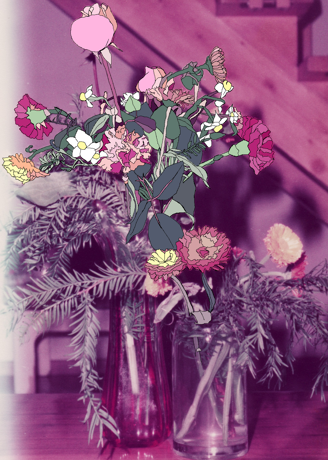 Flowers, archival ink print, 60 x 45 cm, 2011.