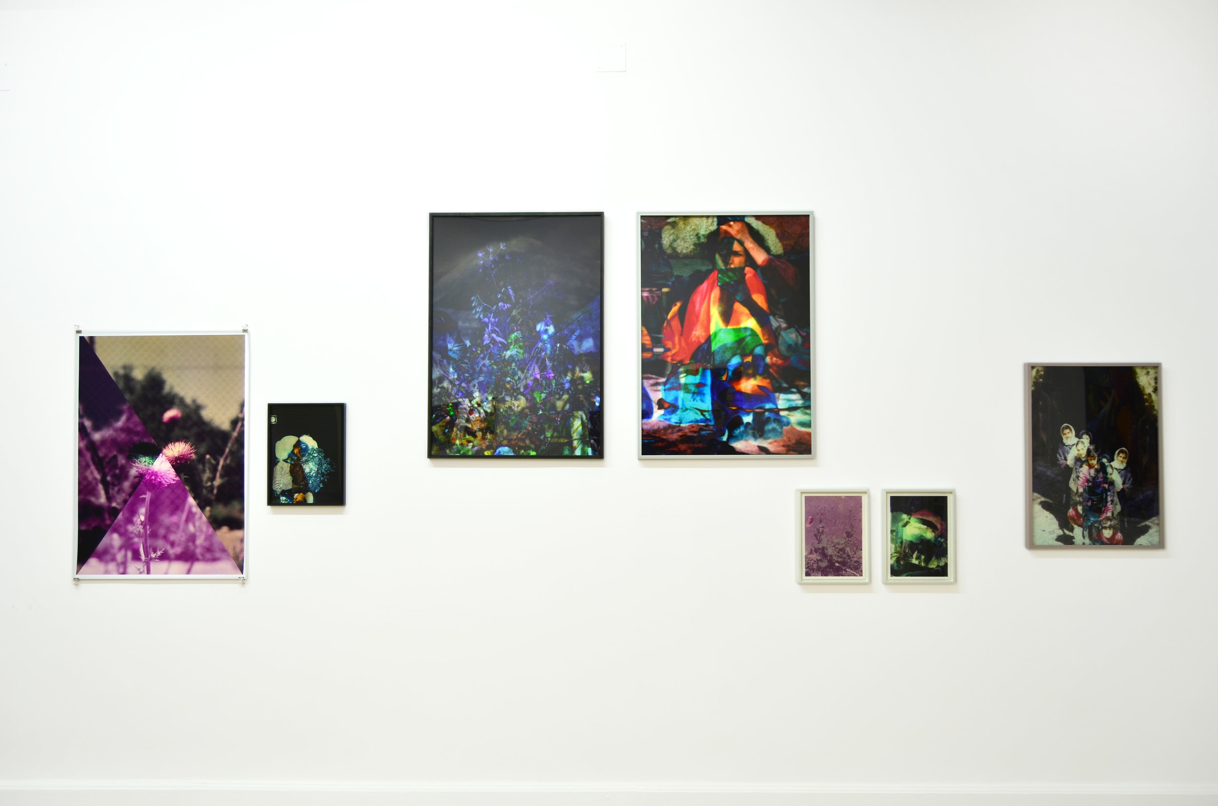 Installation view from the exhibition Spectral Days in Gypsum, 2013