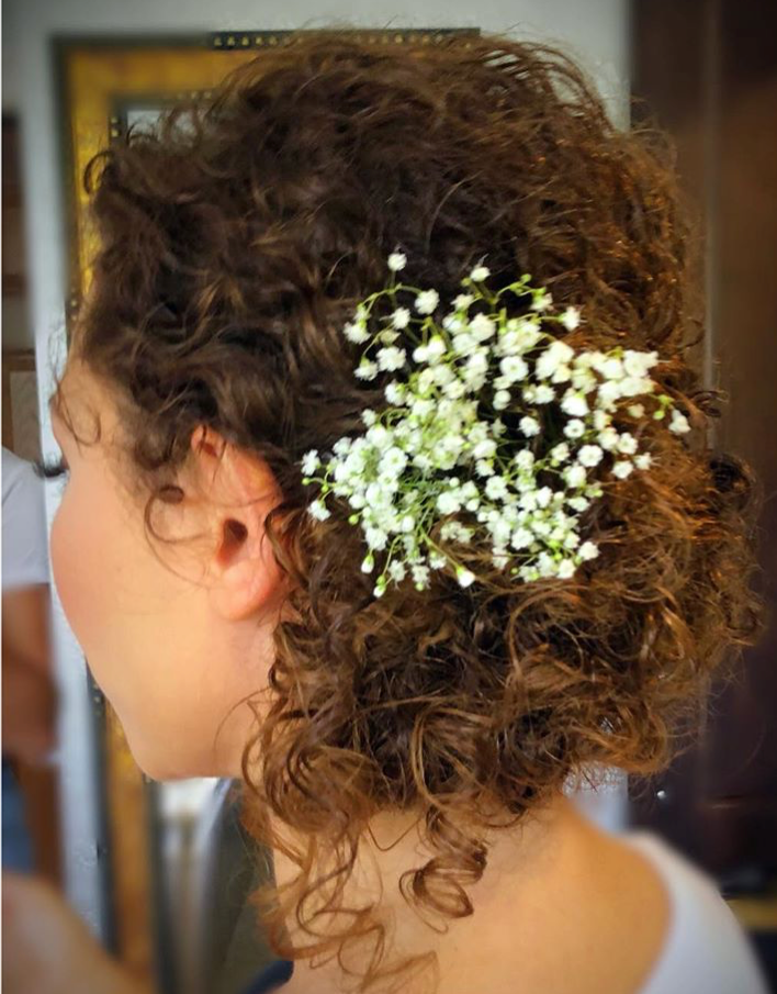 From France To Florida. Destination Natural Curly Wedding Style.