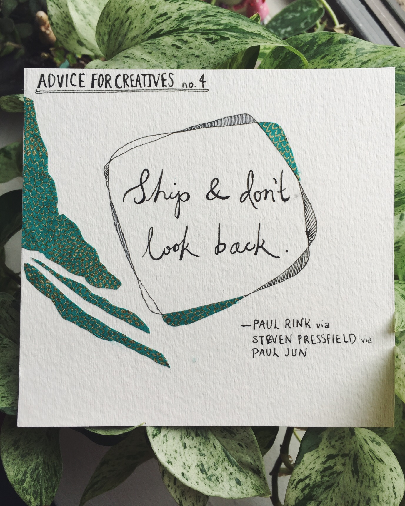 Ship and don't look back.