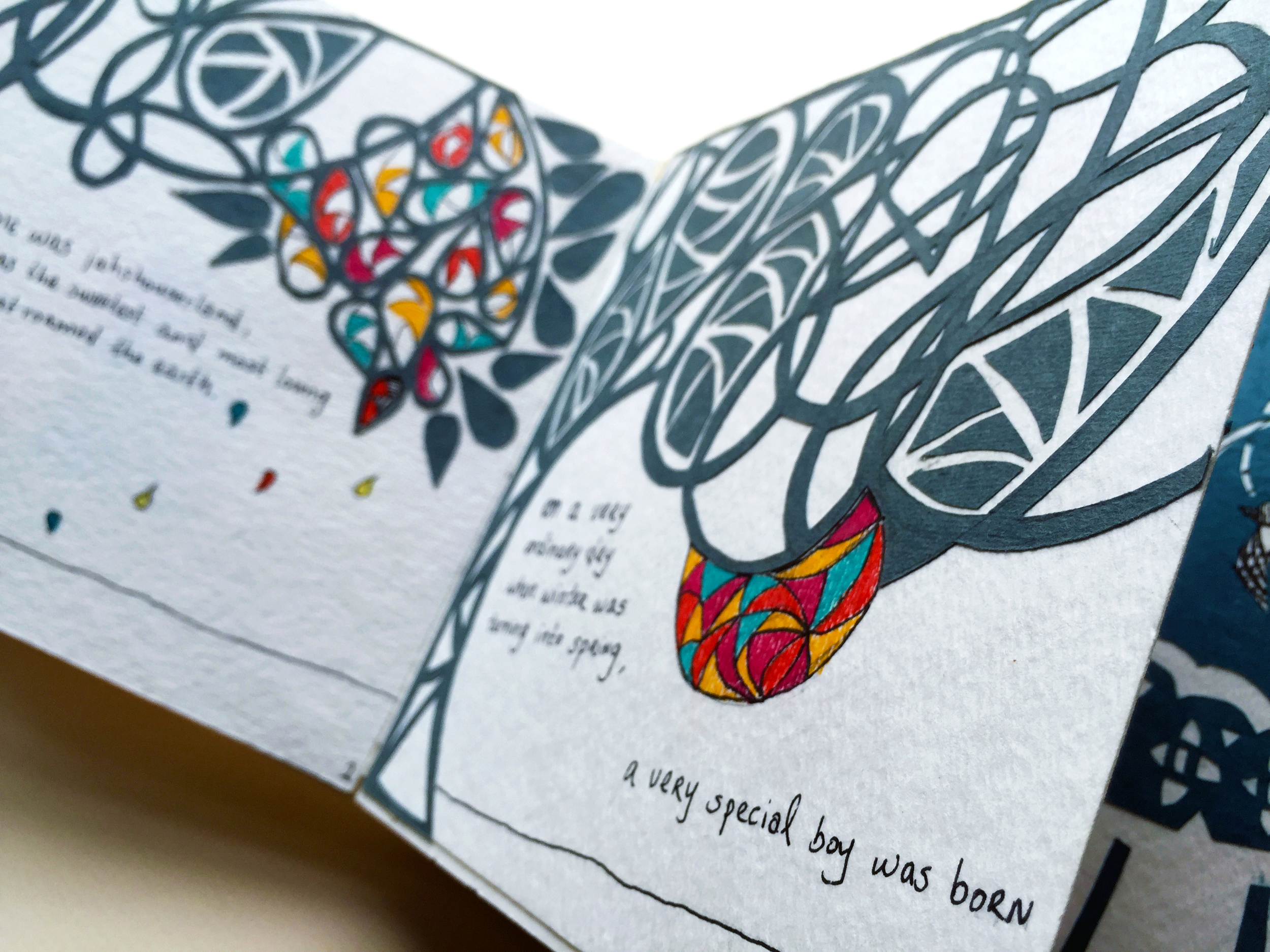 Inside Your Heart - a handmade storybook created with paper cutouts & illustration