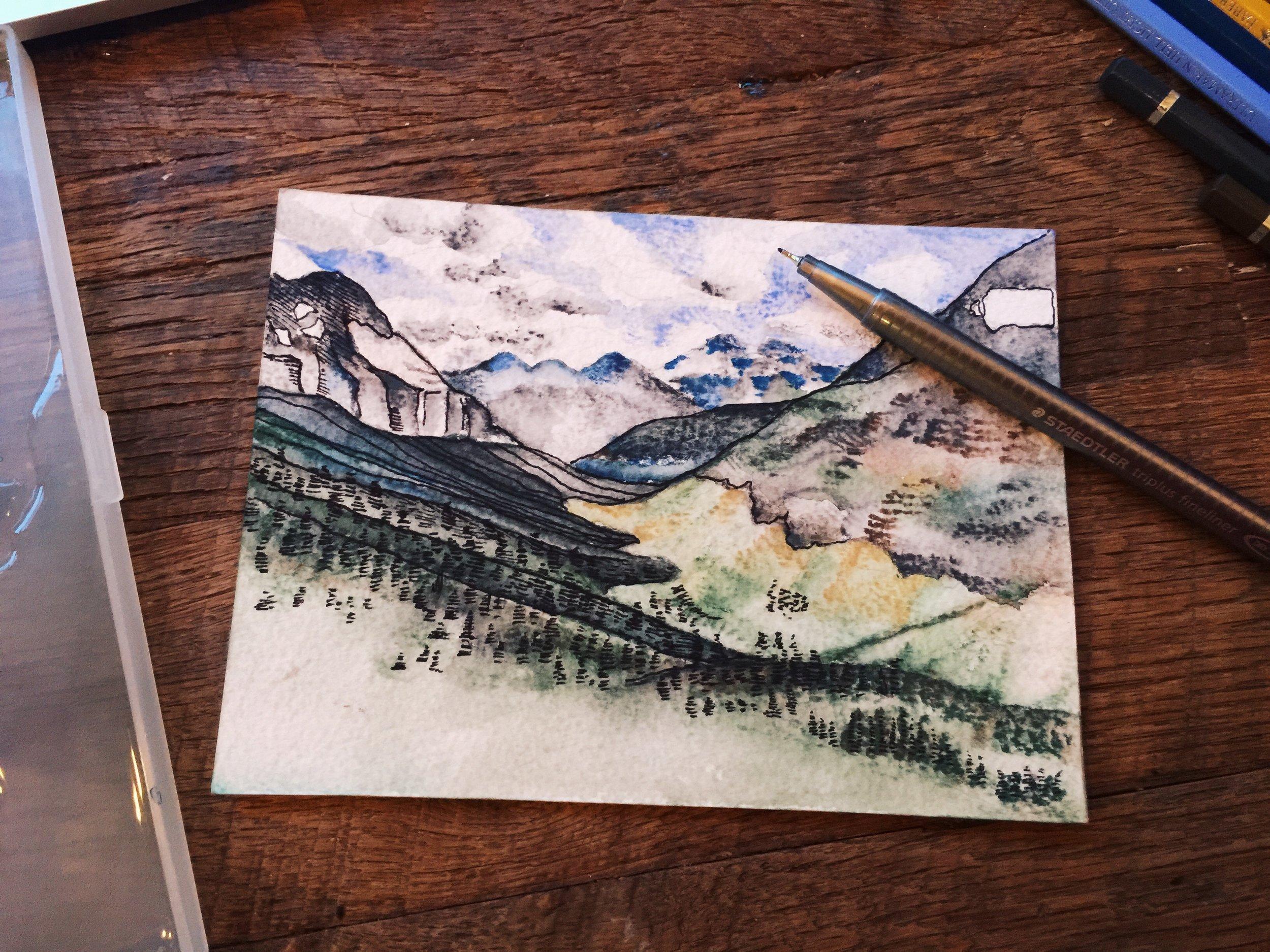 Postcard in progress