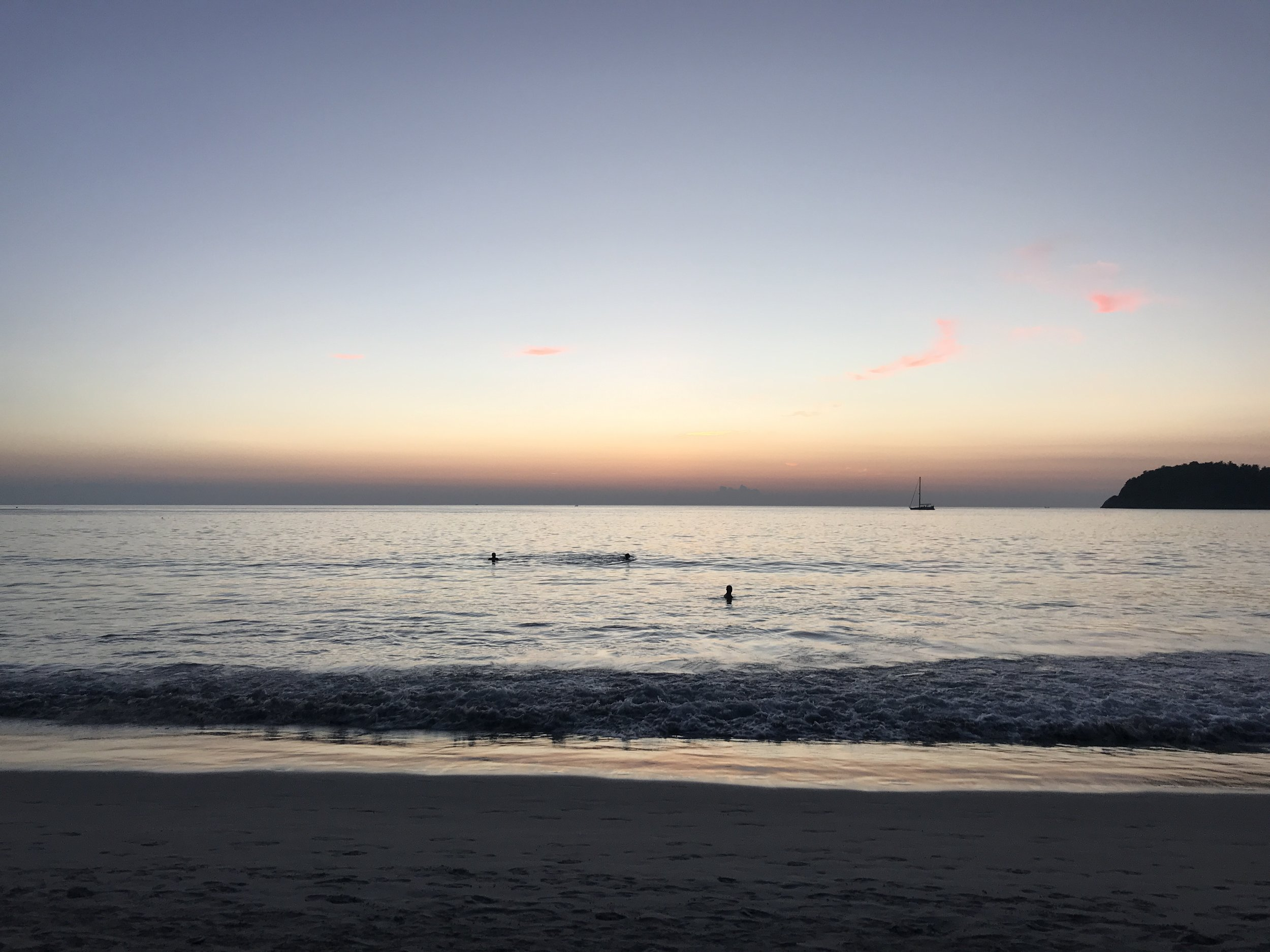 warm Thai beaches - I never thought of myself as a beach girl, but I could do this everyday.