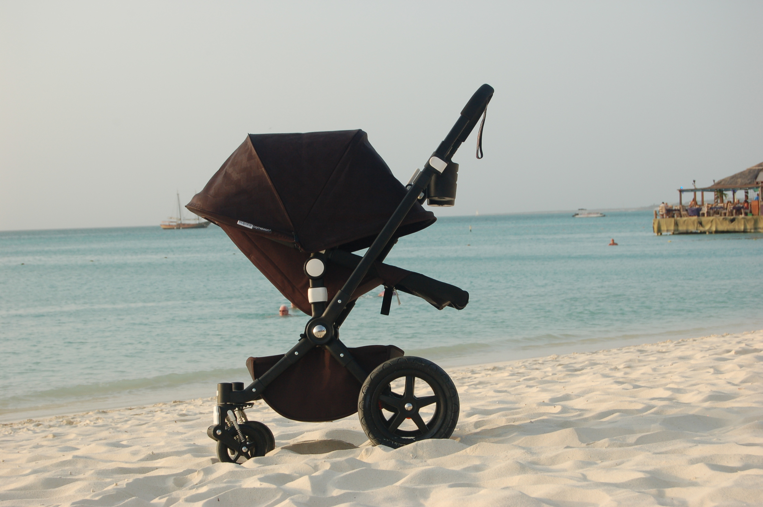 Earlier this year on a family beach trip. My favorite of our strollers for the beach is always the Cameleon 3.