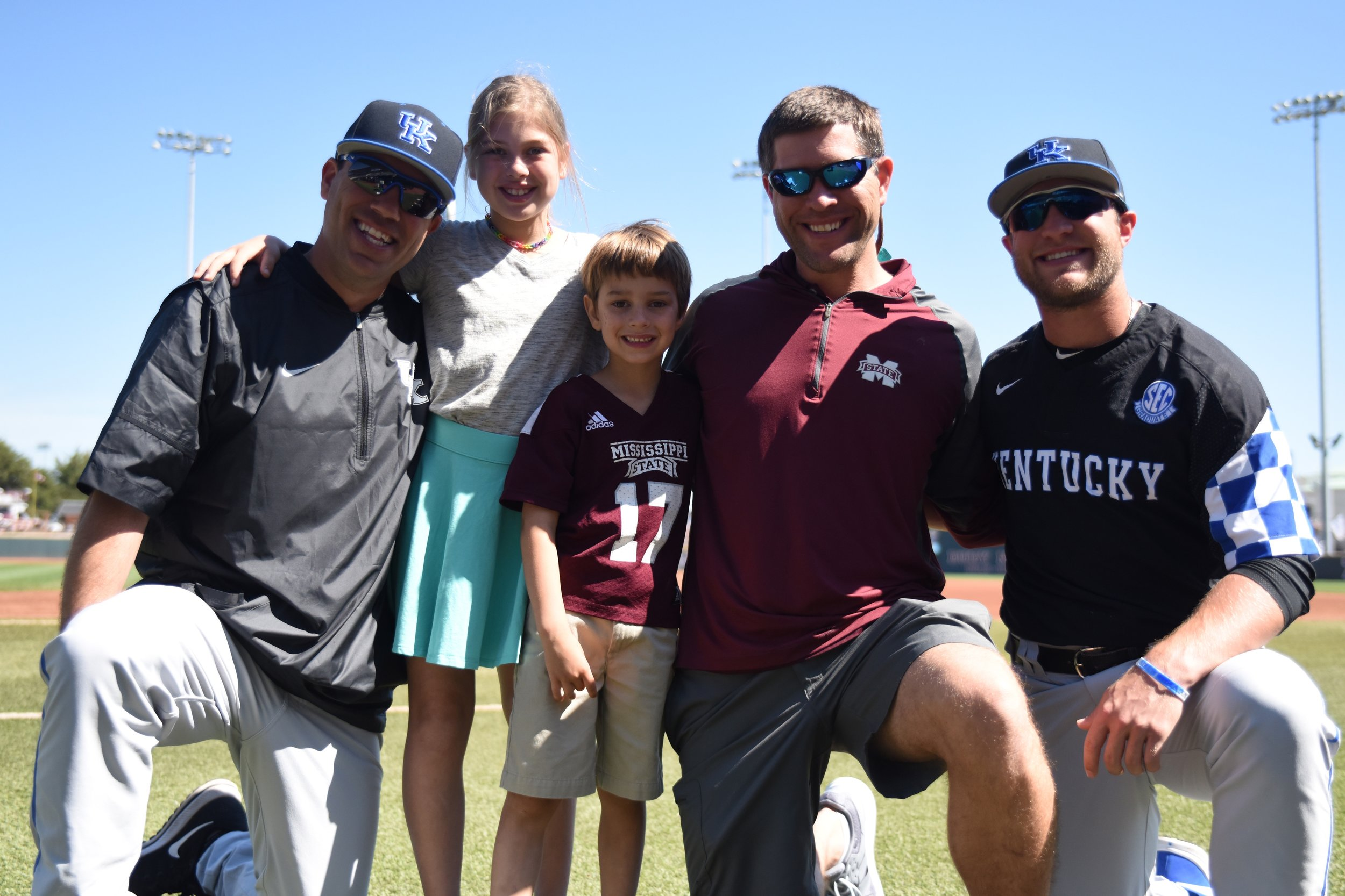 With coach Mingione and Storm in Starkville