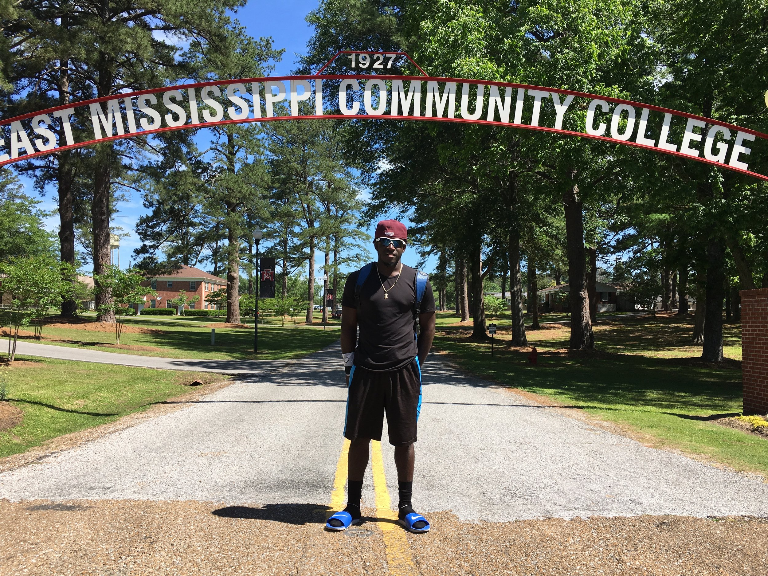 Micah after his tryout at emcc
