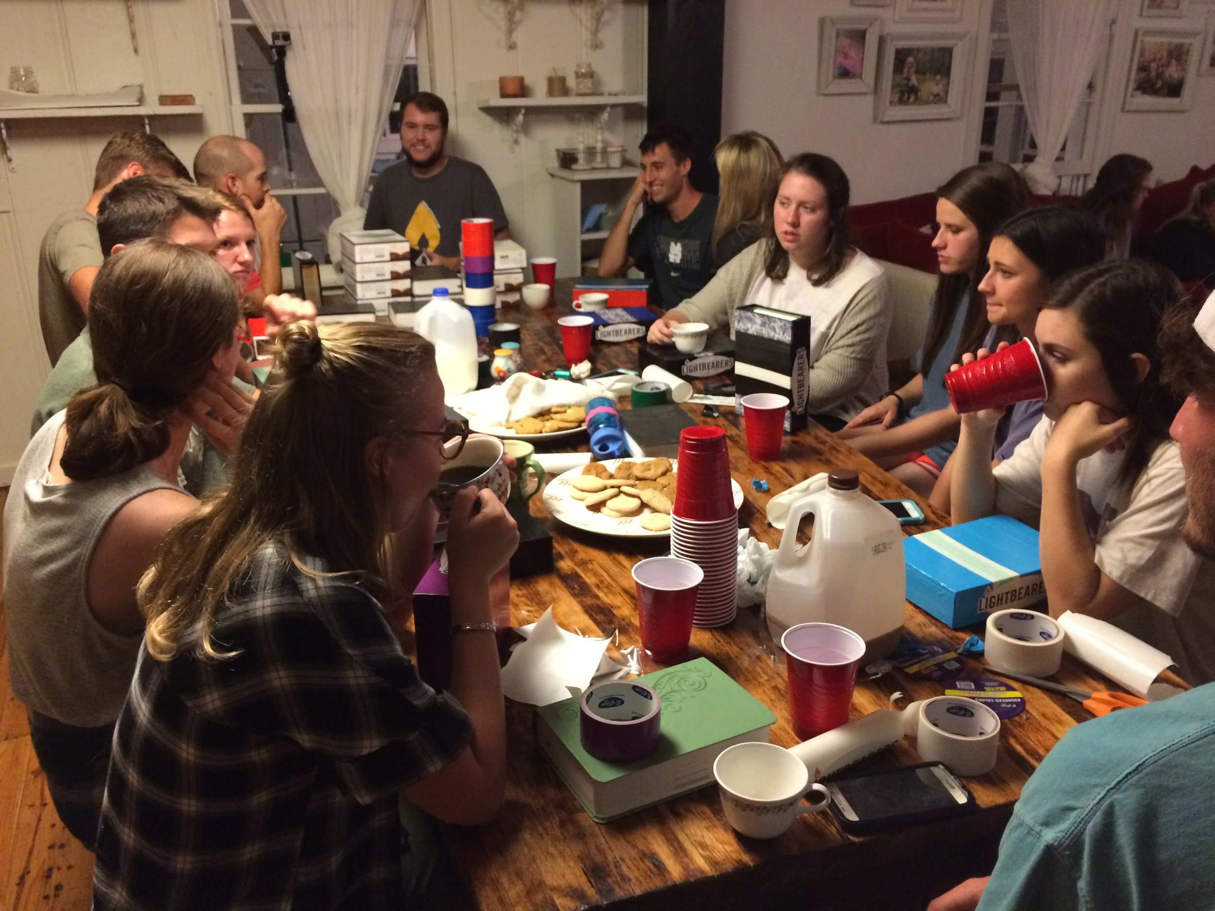 Milk, cookies, awesome people and God's word...that's hard to beat!
