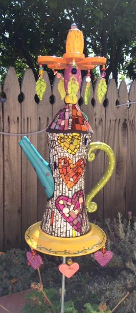 Mosaic Tea Pot by Heidi Borchers