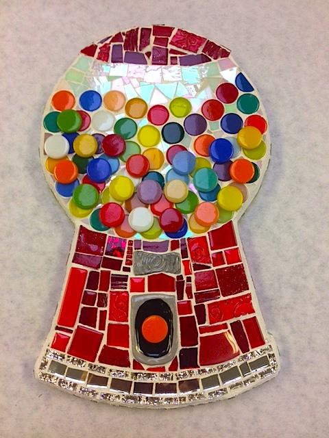 Mosaic Gum Ball Machine by Heidi Borchers