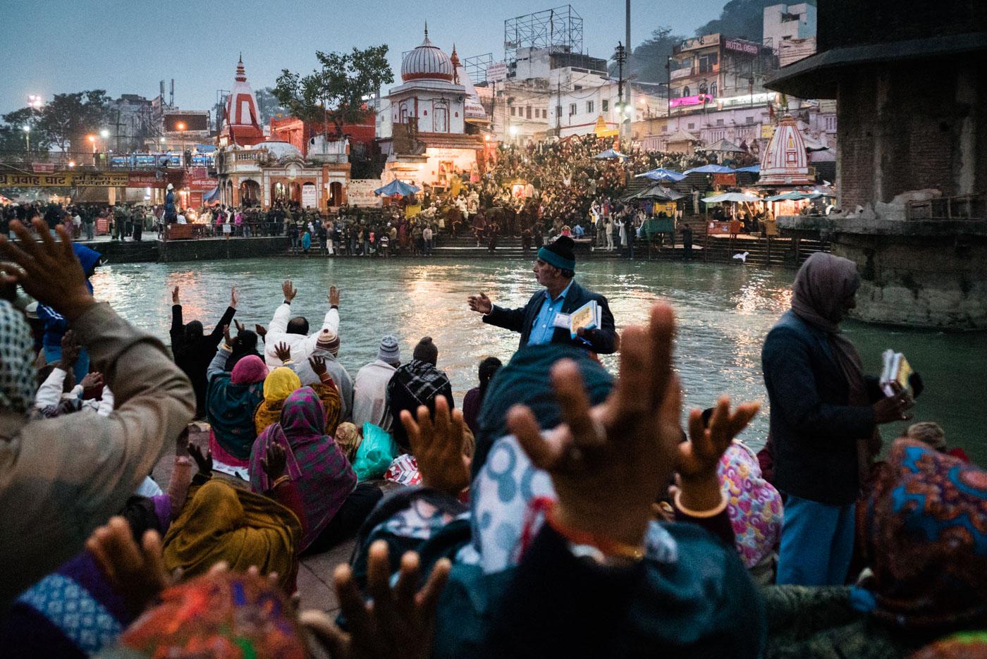 Ganges Aarti ceremony in Haridwar, India - Leica 21mm Super Elmar f/3.4