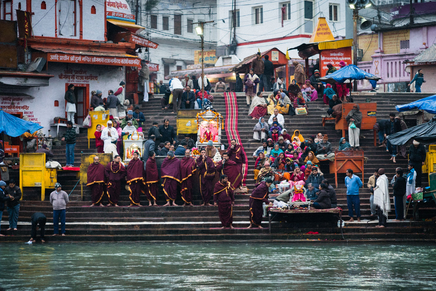Ganges Aarti ceremony in Haridwar, India    - Leica 90mm Summarit f/2.5