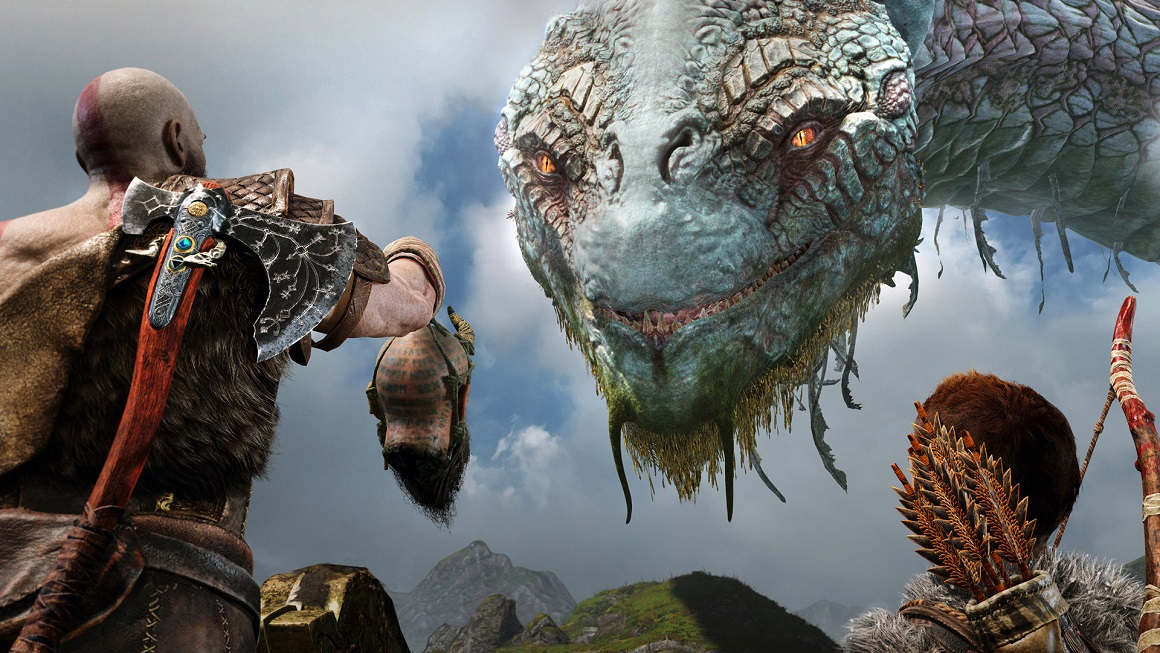 God of War in UHD HDR. Stunning imagery. Surprisingly boring game.