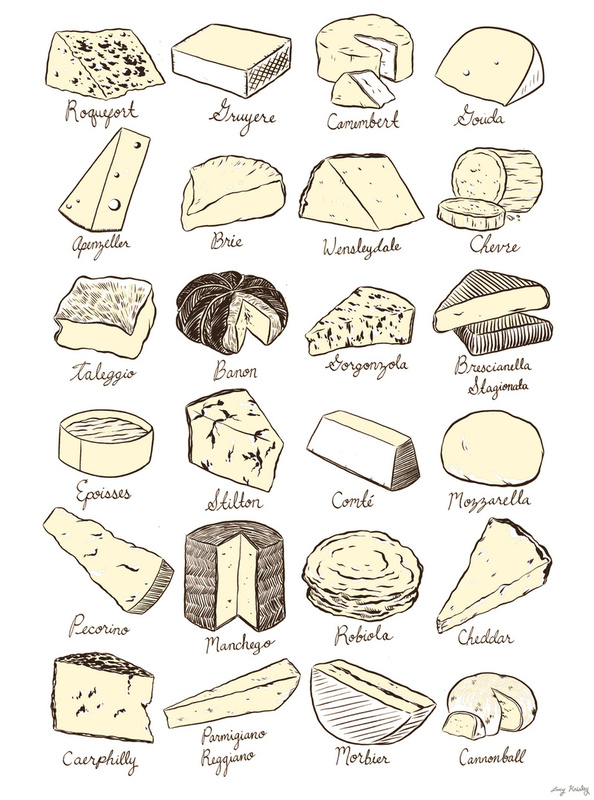 Cheese is Love  (Image from  Society6 )
