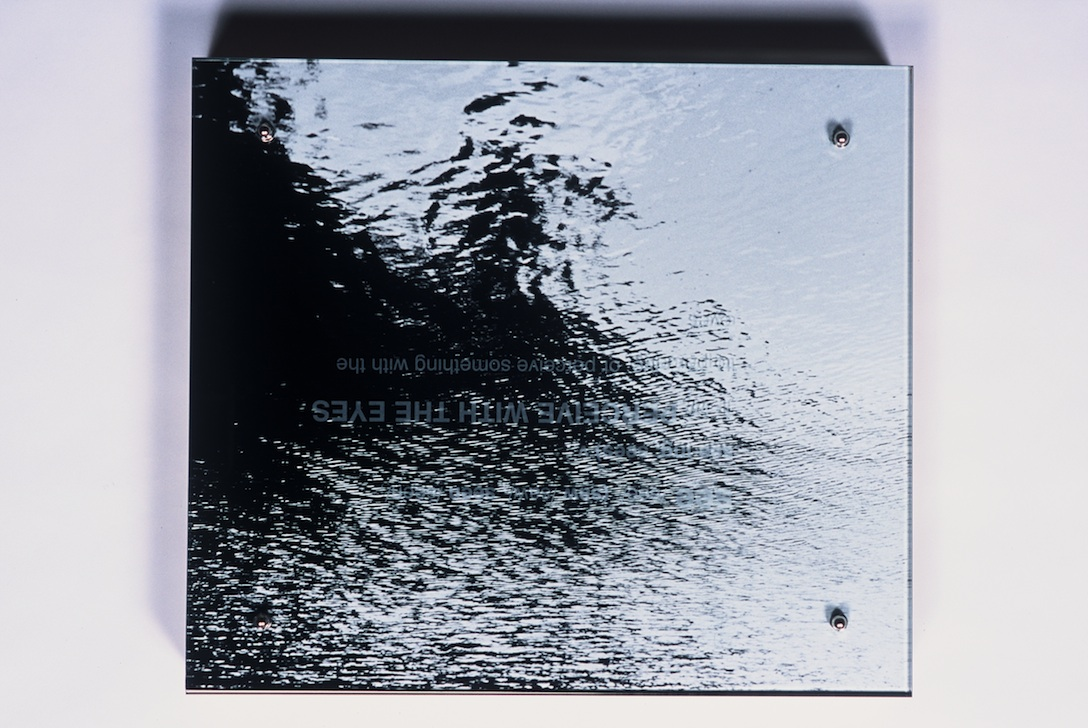 "Sea/Saw (#305) , 15"" X 17"", detail, photograph, etched text on plate glass."