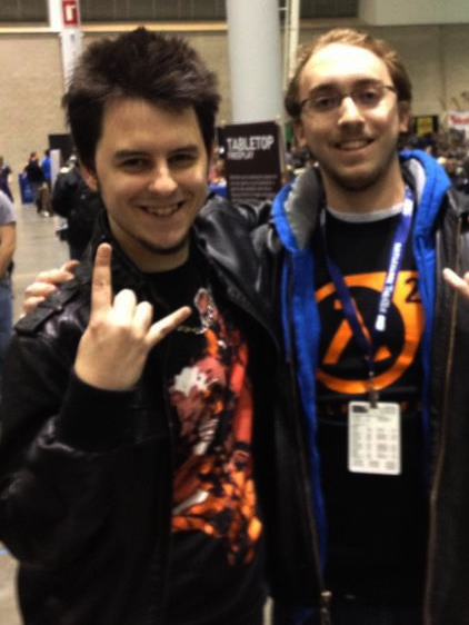 Jules and a fan at PAX East 2013
