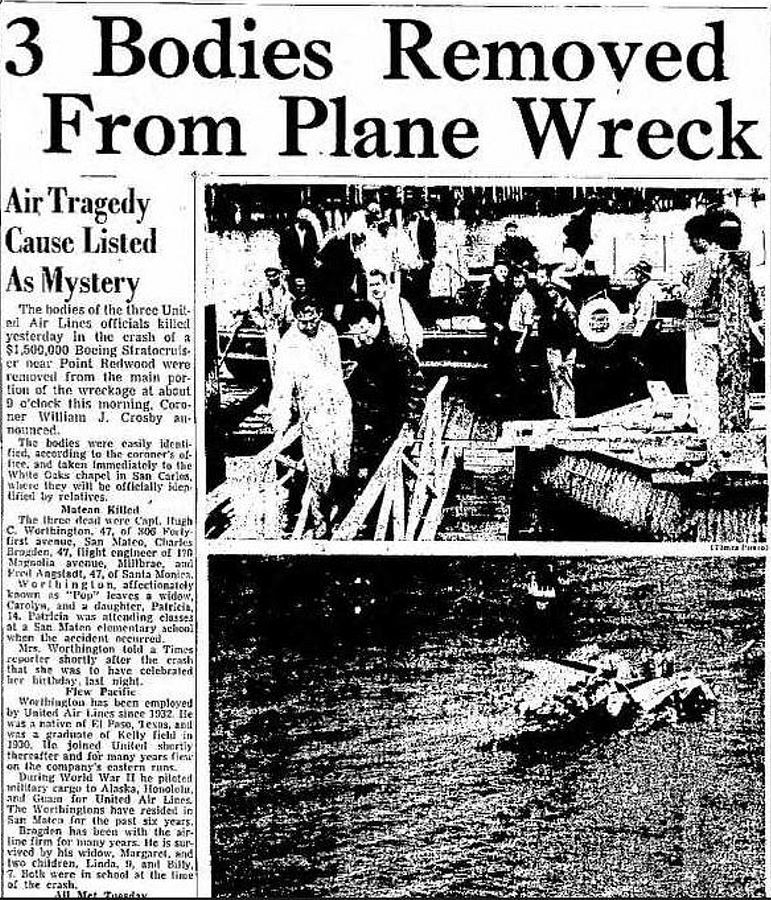 Newspaper account of the Oahu accident.