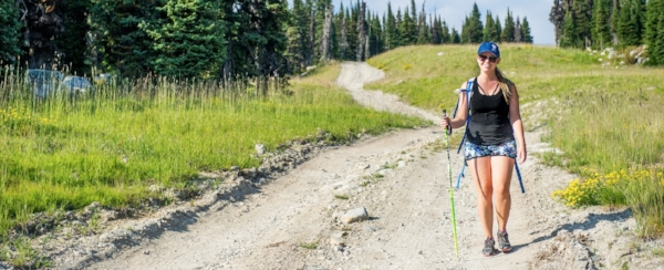 Hiking the trails of Big White Ski Resort in the summer