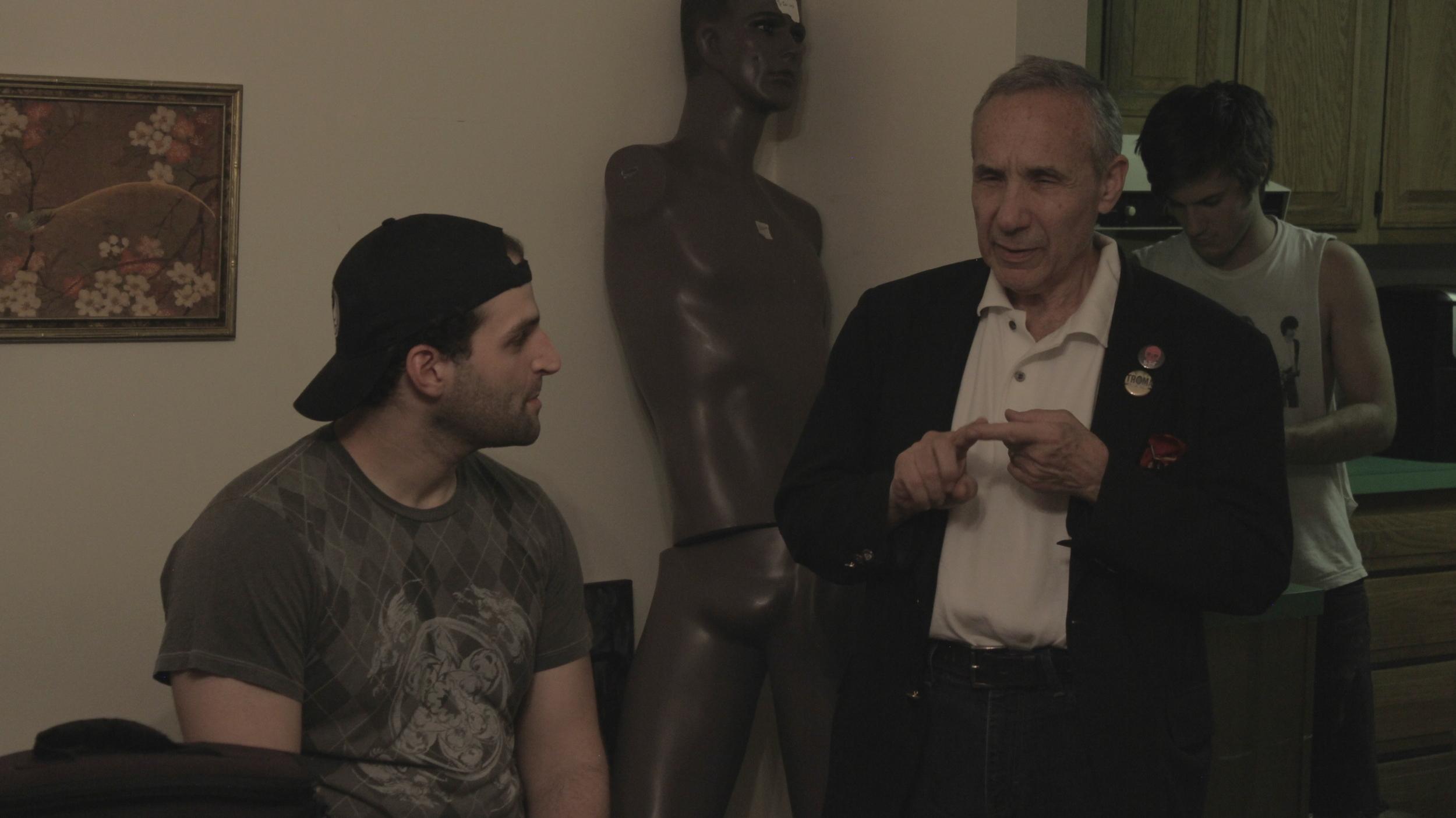 "Lloyd Kaufman (Science Team Elder) and Vito Trigo (""Chip"")"