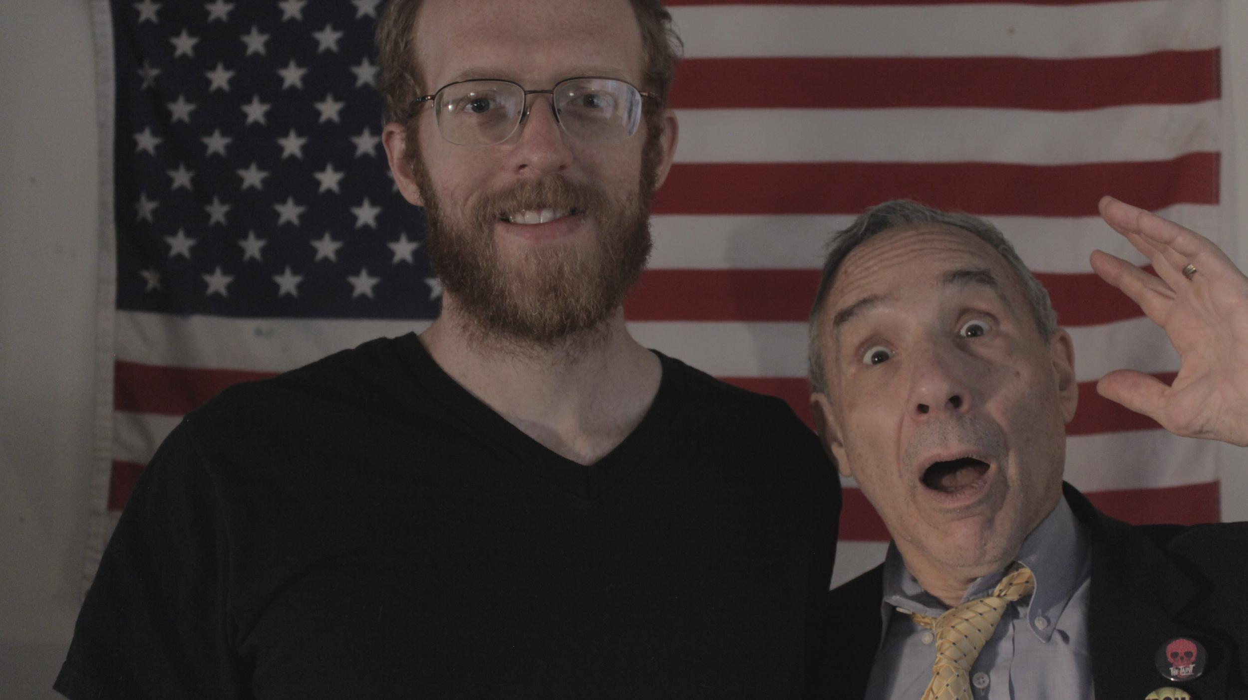Drew Bolduc (director) and Lloyd Kaufman (Science Team Elder)
