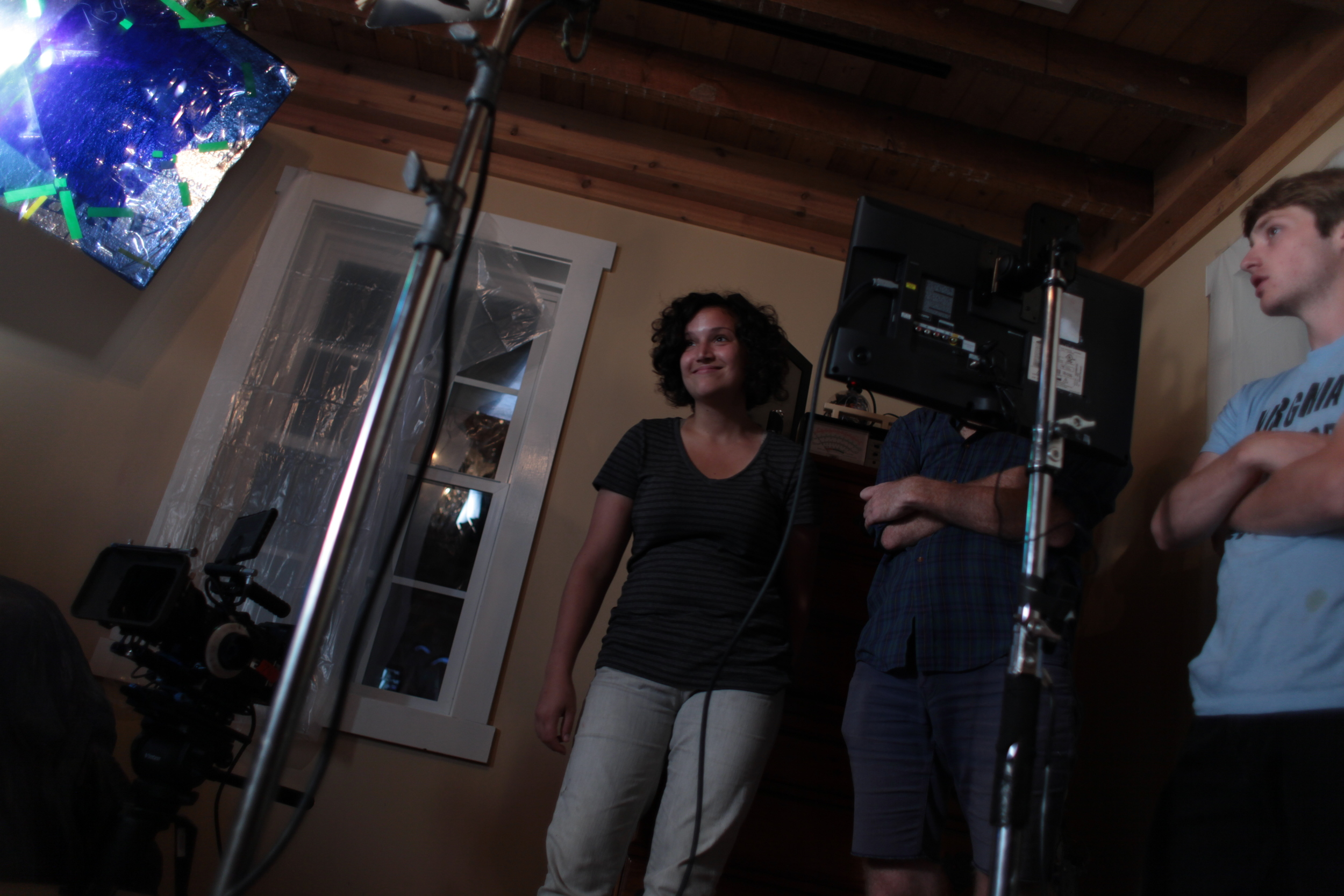 Michele Lombardi (producer/assistant director) and Caleb Plutzer (grip & electric, sound)