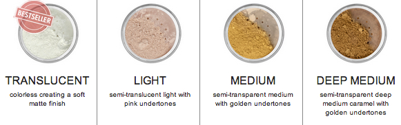 afterglow organic infused setting powder shades
