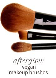 Afterglow vegan makeup brushes